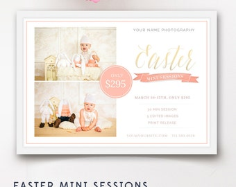 Easter Mini Session Template, Easter Mini Sessions, Mini Session Marketing Board, Photoshop Template - INSTANT DOWNLOAD
