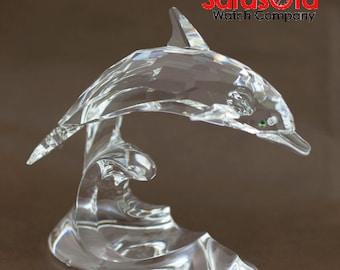 Swarovski Dolphin Riding Wave Crystal Figurine