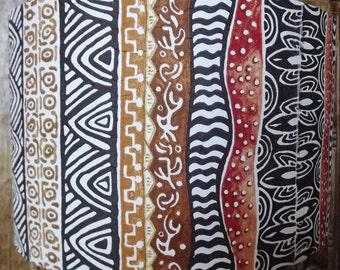 Animal Print lamp shade  Shabby Chic zebra leopard tribal art Free Gift