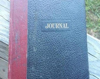 Old General Store Daily Journal Ledger~ circa 1940's~ Blank Pages~ Rustic Country Charm !!
