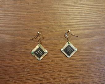 Handmade Microchip Earrings