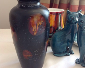Poole pottery vase Galaxy pattern