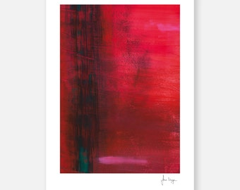 Fine art print abstract art / painting signed RED by Irina Meye