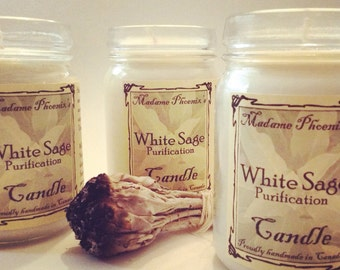 All Natural White Sage Smudging Candle