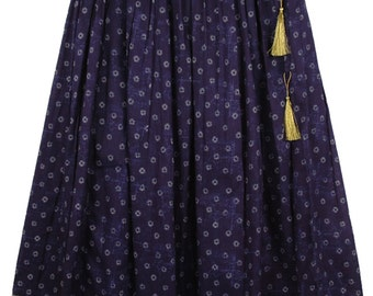 Martinique Printed Skirt with Solid Border