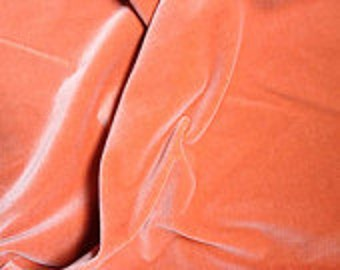 Vintage Apricot Velvet 100% cotton - dense and beautiful, from Germany, 36 inches wide