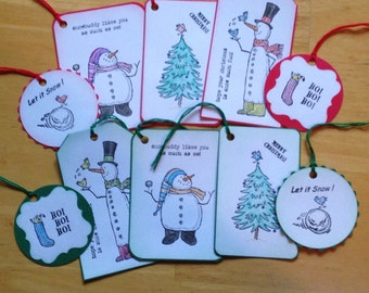 Stampin up snow much fun gift tags