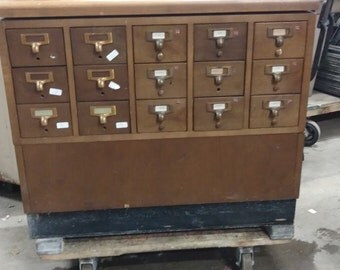 Small Unit Library Card Catalogue
