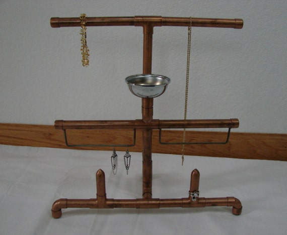 Copper pipe jewelry stand for Copper pipe jewelry stand