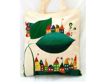 Shopping Bag, Cotton Tote Bag, Reusable Shopping Bag, Farmers Market Bag, Tote Bag, Gift for Teacher, Book Bag, Reusable Shopper Bag