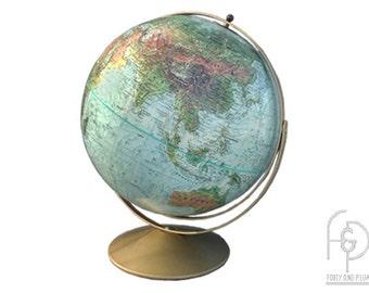 "Repogle 1972 Adjustable Full Circle Meridian ""Land and Sea"" 12"" Globe."