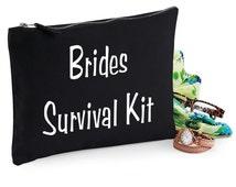 Make Up Bag Wedding Gift Cosmetic Canvas Bag Brides Survival kit Novelty Funny Gift Black Accessory Bag