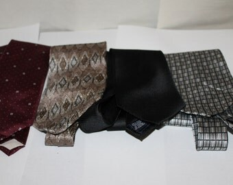 Four Vintage Ties, NICE Condition, Makers Include All Silk Pierre Cardin, Stafford, Don Loper Beverly Hills Silk, Stafford Executive