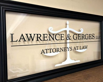 Lawyer Gift, Gifts for Lawyers, Lawyer Art, Lawyer Office, Lawyer Wall Art, Custom Business Sign, Office Sign, Business Sign, B104