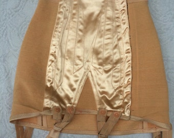 French vintage J'embellis retro girdle. High waisted corset/ waist cincher, Deadstock, Burlesque clothing, steampunk clothing, body shaper