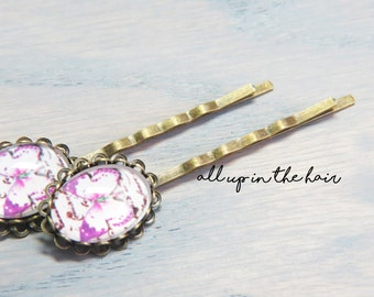 Purple Butterfly Bobby Pins - Purple Bobby Pins