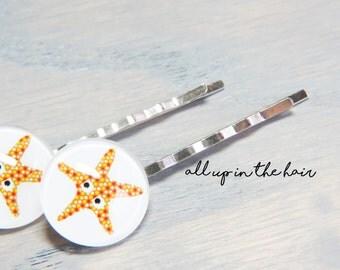 Starfish Bobby Pins - Sea Star Bobby Pins