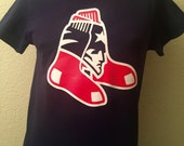 New England Patriots football Boston Red Sox baseball combo men's T-shirt or Ladies V-neck Gronkowski Tom Brady Boston Strong