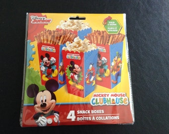 Snack Boxes, Disney Junior, Mickey Mouse, Minnie Mouse, Goofy, Donald Duck, Birthday Parties, 1 pack (4 boxes)
