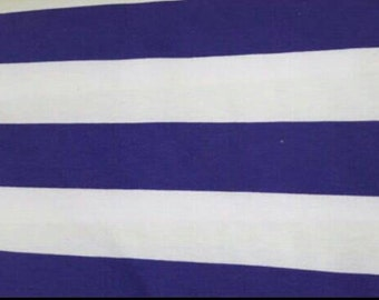 100% Cotton - Brother Sister Design Studio - Purple and White Stripe - Quilting Cotton - Fabric by the Yard - Striped Fabric