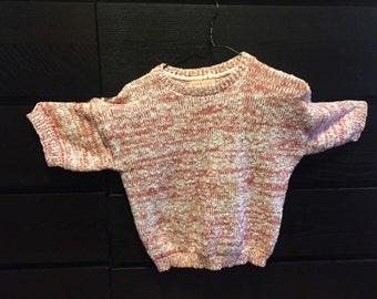 Vintage Short Sleeve Crop Sweater