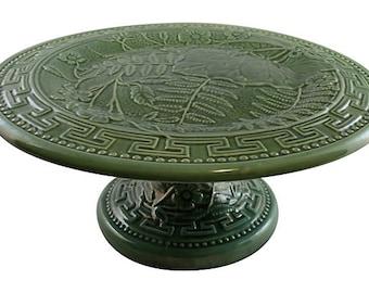 Majolica Pedestal Cake Plate