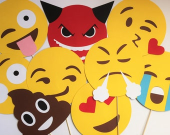 Emoticon photobooth props package