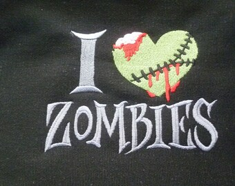 Zombie Messenger Bag Embroidered Halloween Undead Love