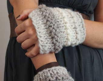 handmade sleeves / fingerless gloves
