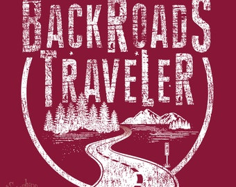 Backroads Traveler - (S) Heather Red T-Shirt