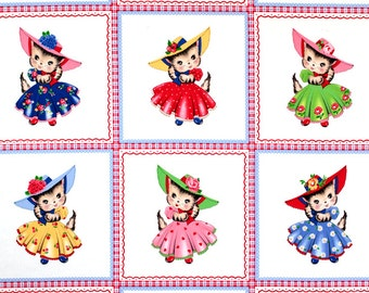 Pam Kitty Morning Panel for Lakehouse Fabrics OOP HTF