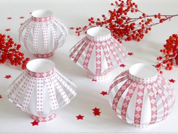 Diy lanternes de no l en papier imprimer fiche cr ative diy - Fabriquer une lanterne en papier ...
