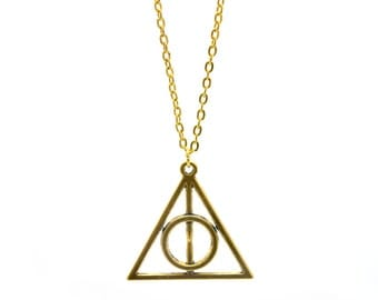Golden Deathly of Hallows necklace