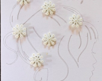 6 Ivory Hair Coil Twist Any Occasion, 14mm Wedding Party, Bride, Cheer, Proms or Any Special Event
