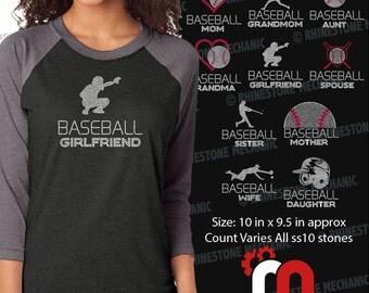 Baseball Family Pack Rhinestone TEmplate Digitial Download