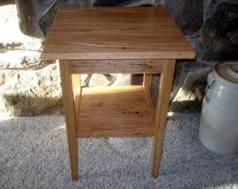 Reclaimed Oak End Table Rustic Wormy Oak