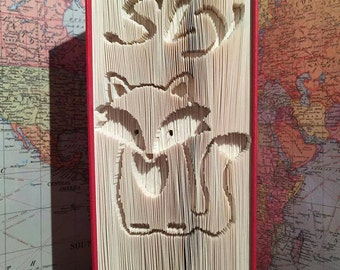 Sly fox cut and fold book folding pattern
