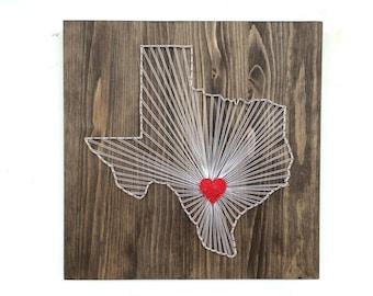 Texas String Art States Decor Texas Wall Art Home Decor