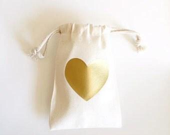 Party favor bag-  Favor bags- Heart favor bag- Wedding favor bags- Thank you gift bags