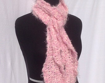 Romantic Ruffles Scarf in Speckled Baby Pink