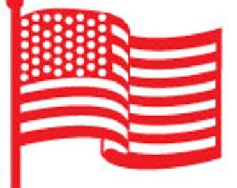 Flag Peg Rubber Stamp