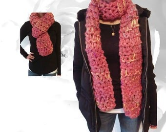 Chunky Scarf, Winter Scarf, Pink Scarf, Yellow Scarf, Purple Scarf, Gray Scarf, Brown Scarf, Thick Scarf, Knitted Scarves, Warm Scarf