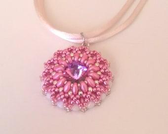 Pendant - Necklace with Swarovski crystals