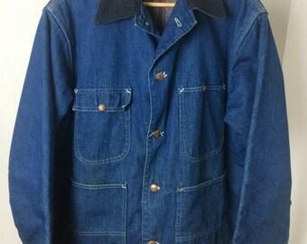 Vintage Blanket Lined Denim Railroad Jacket