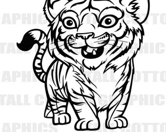 TIGER CUB  Vinyl Decal #WL159
