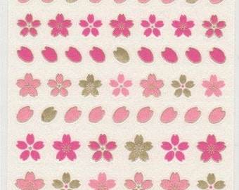 Sakura Stickers - Cherry Blossom Stickers - Paper Stickers - Japanese Stickers - Reference H3334I5424-25