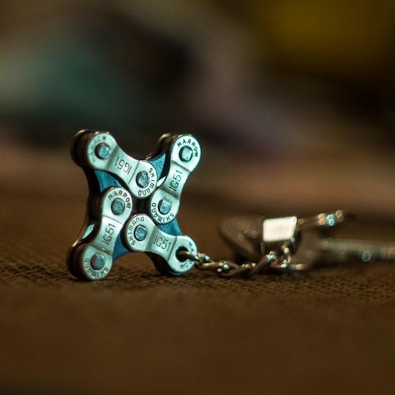 Bike Chain Keyfob, Bike Accessory, Bike Keychain, Metal Keyring, Metal Keychain, Cyclist Keychain, Bicycle Chain Keychain,  Cyclist Gift