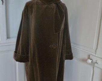 FRANK AND SON - Vintage velvet woman coat - size 40