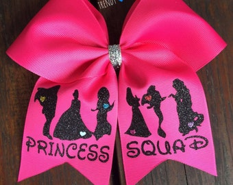 Princess squad cheer bow