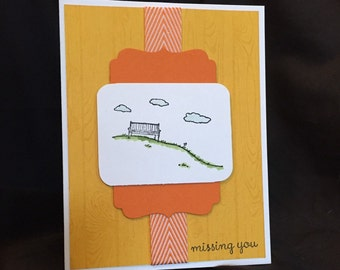 Handmade Missing You Card, Stampin Up Thinking of You Card // Missing You